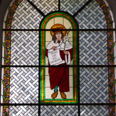 Witraż w kościele w Celestynowie